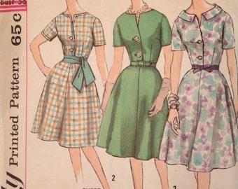1960's  Simplicity 4001 Pattern - Shirtwaist Dress
