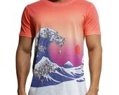 The Great Wave of pug, Pug Tee, Hokusai T-Shirt, T-shirt Available XS, S, M, L