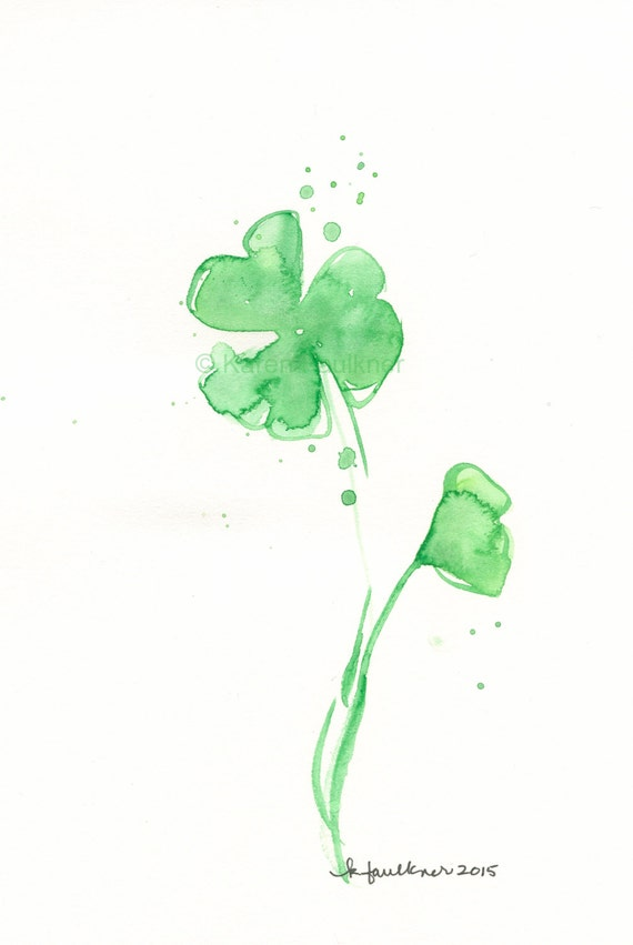 Watercolor Painting Watercolor Flowers Shamrock