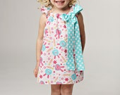 Adorable Easter Bunny Dress with Bow Pink Blue Party Cute Bunnies
