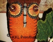 Folkart Wool Owl Hanging Ornament
