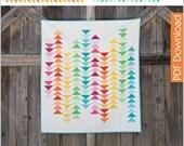 Modern Quilt Pattern - Spectrum - PDF