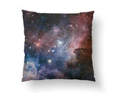 Carina Nebula, Outer Space, Galaxy Throw Pillow // Spun Polyester Throw Pillow Case, Cover, With or Without Insert - Made in USA