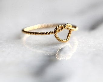 Don't promise me anything .Infinity heart twisted silver gold plated ring 22k