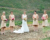 Tailored InFiNiTy dress CUSTOM to your exact size & length  HUNDREDS of colors for your rustic chic wedding,   slate, blush, blue, rosewater