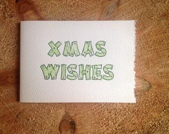 xmas wishes holiday letterpress card