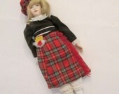 Small Vintage Doll - Scottish Attire