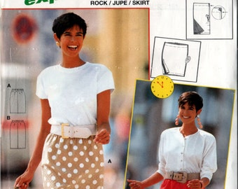 FITTED Skirt BURDA 4547 Womens Misses Sewing Pattern Size 8 - 10 - 12 - 14 - 16 - 18 Bust 34-44 UNCUT