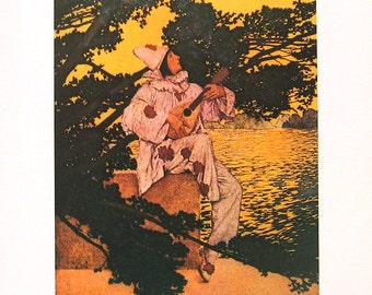 A Golden Treasury of Songs and Lyrics - Maxfield Parrish - 1974 Vintage Children's Storybook Page - 11 x 9