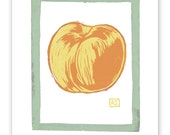 Linn's Peach Block Print Art Reproduction