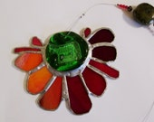 Roman Holiday  - Beautiful Stained Glass Suncatcher with Horse Medallion Centerpiece