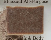 Small Cuts Rhassoul All-Purpose Shampoo, Face And Body Wash Gentle Will Not Clog Pores Fragrance Free
