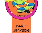 Bart Simpson Bookmark Vintage 90's school supplies Outta My Way, Man! The Simpsons