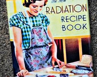 Radiation Recipe Book vintage retro book cover refrigerator magnet
