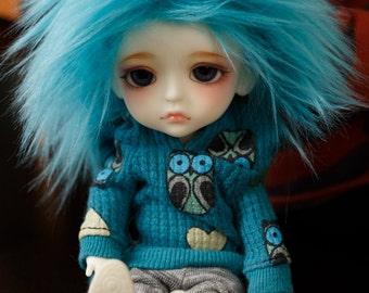 BJD Wig Blue Raspberry faux fur doll wig SIZE CHOICE