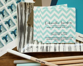 Chevron Calling Cards - Set (50)