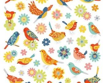 Birds & Flowers Stickers • Bird Lover • Bird Sticker • Backyard Bird • Birds • Bird Watcher • Bird Love • Flower Sticker • Nature (SK4295)