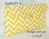 Yellow Clutch - Chevron Clutch - Bridesmaid Clutch - SALE -  Envelope Clutch - Premier Prints - Cosmo in Corn Yellow  - Birthday Gift Idea