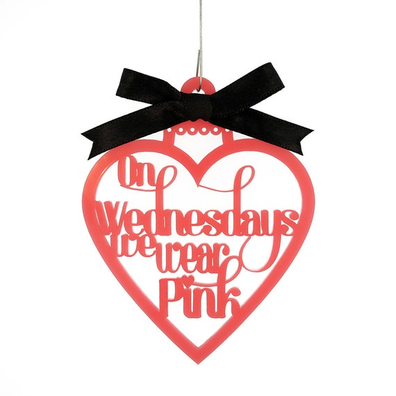 Mean Girls Quotes On Wednesdays We Wear Pink: On Wednesdays We Wear Pink Ornament Mean Girls Movie Quote