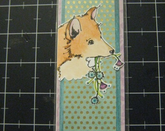 Sweet Shiba Inu Bookmark, 50% goes to the current selected animal charity