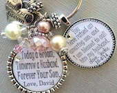 PERSONALIZED Mother of the GROOM gift, MOTHER of the bride gift, today a groom, today a bride, raised an amazing son, thank you gift, heart