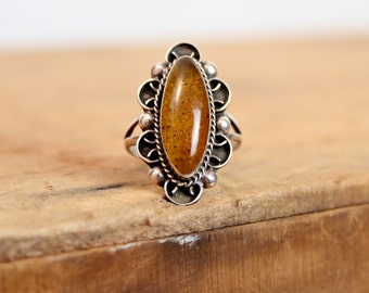 Cats Eye Ring • Sterling Silver Ring • Cat Eye Ring • Mexican Ring • Southwestern Ring • Silver Ring • Sterling Jewelry • Vintage Ring