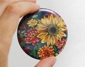 Autumn Flowers Pocket Mirror