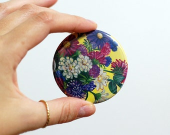Floral Pocket Mirror