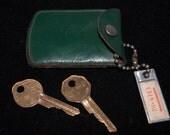Anderson Ford  Maynard Massachusetts Leather Key Keeper with Tag & Keys