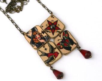 tattoo mosaic necklace tattoo necklace tattoo jewelry tattoo sailor jerry jewelry. Black Bedroom Furniture Sets. Home Design Ideas