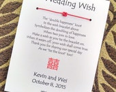 Double Happiness - A Wedding Wish - Wish Bracelet Wedding Favor Custom Made for You