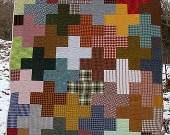 "CLEARANCE - - old + new... modern nap size quilt...72"" x 59""...as seen on TV ..  picnic quilt, bed throw, nap quilt, hammock quilt."