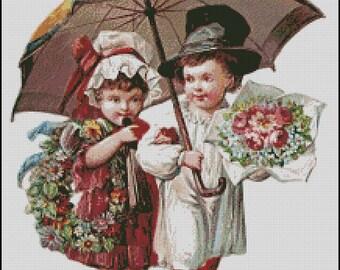 Vintage Children cross stitch pattern No.791