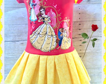girls Belle dress Beauty and the Beast 5/6 ready to ship