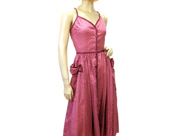 70s Gunne Sax Dress, Boho Hippie Boysenberry Corset Laced Prairie Dress, Sundress Cotton S