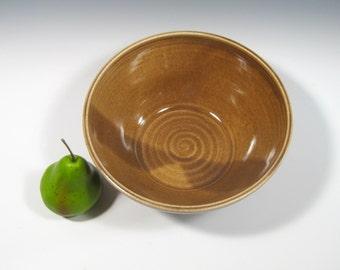 Ceramic Serving Bowl - Large serving bowl - Brown Bowl - Salad bowl - Pasta bowl - fruit bowl - Popcorn Bowl - centerpiece - Serveware Bowl
