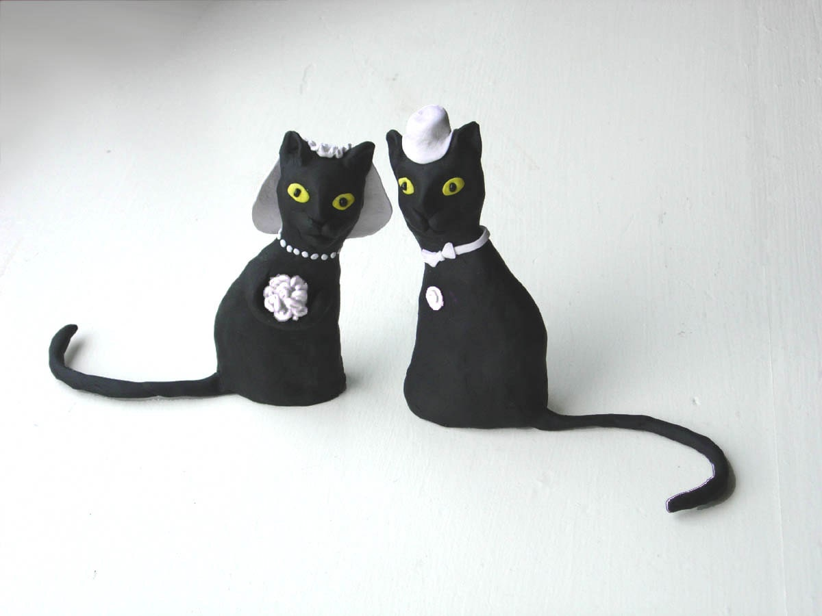 black cats wedding cake toppers black cats wedding cake topper made to order 11858