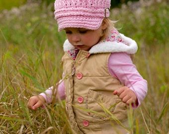 Baby Newsboy Cap 9 to 12 Month Baby Girl Newsboy Hat Baby Hat Light Pink Newsboy Light Pink Baby Hat Crochet Newsboy Baby Girl Hat Fall Hat