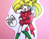 Sailor Moon Die Cut Sticker Chibi Moon Rini Mini Moon Luna P