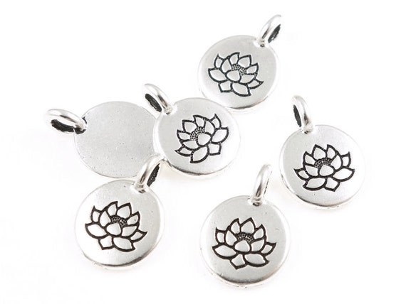 Tiny lotus pendants tierracast lotus charm antique silver charm tiny lotus pendants tierracast lotus charm antique silver charm zen buddhist yoga charms pendant for mindfulness meditation jewelry p1218 from audiocablefo light catalogue