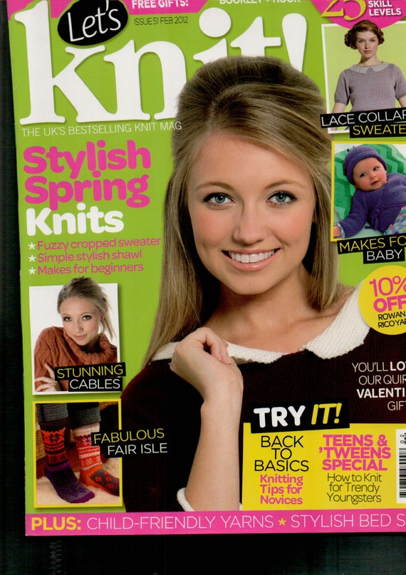 Let's Knit Knitting Magazine Issue 51 February 2012