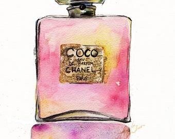 Chanel Perfume Bottle Print