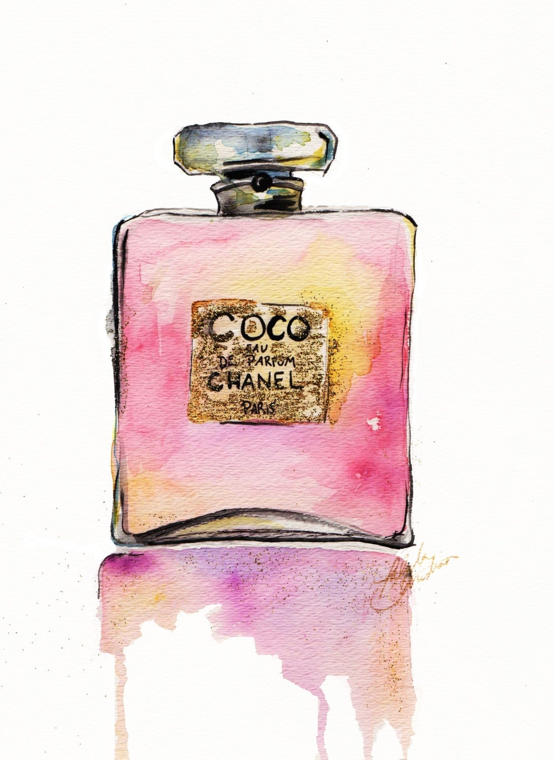 Chanel Perfume Bottle Print By TalulaChristian On Etsy