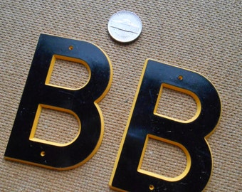 b - vintage plastic marquis letter found objects for altered art and craft projects