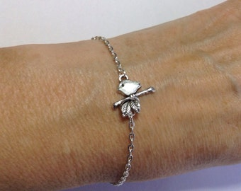 Bird on a Branch Bracelet