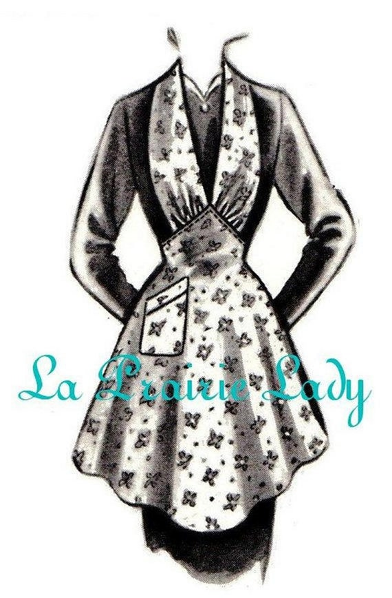 Repro Vintage Halter Apron 40's  No 19 on Printable PDF  Available in M-L-XL