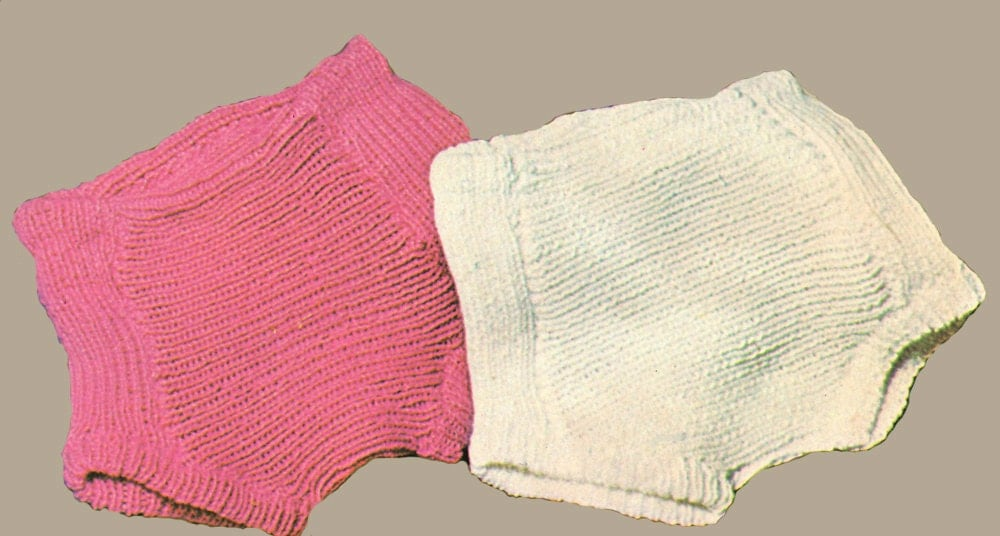Baby Knitting Pattern Ribbed Baby Diaper Cover Knitting
