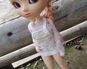 Blythe pullip Overall Shorts, fits for 1/6 dolls: momoko, azone, pure neemo, licca, azone, ...