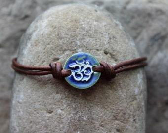 Deep Blue Om Bracelet