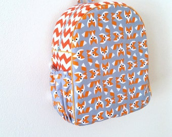 Childrens Backpack, Kids Backpack, Toddler Backpack, Foxes